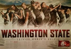 women's golf poster